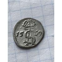 Двойной  денарий  1569(1)