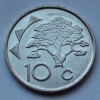 Намибия, 10 центов 2002 г