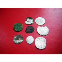 7 монет серебро одним лотом+ медная бонус.