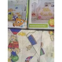 Красивое постельное с мультяшками для малышей в кроватку НОВЫЕ цена за один не с рубля