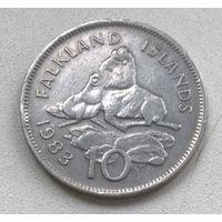 Фолклендские острова 10 пенсов 1983 г.