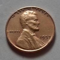 1 цент США 1957 г.