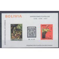 [23] Боливия 1974.Живопись,флора,герб. 4 БЛОКА.