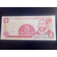 Никарагуа 5 сентаво 1991г.