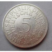 ФРГ. 5 марок 1968 J, Серебро