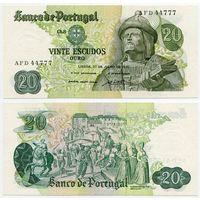 Португалия. 20 эскудо (образца 1971 года, P173, подпись 1, aUNC)