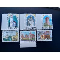Беларусь 1992 год. Архитектурные памятники Беларуси