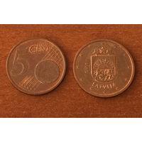 Латвия, 5 евроцентов 2014