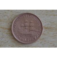 Южная Африка пол пенни 1953