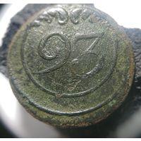 БРАК !!  1812 Франция ВА   93  пуговица большая
