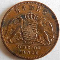 9. Баден 1 крейцер 1861 год, Фредерик-1