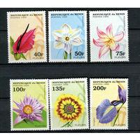 Бенин - 1995 - Цветы - [Mi. 697-702] - полная серия - 6 марок. MNH.