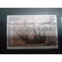 Бермуды, колония Англии 1990 парусник