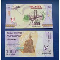 Банкнота Мадагаскар 1000 ариари 2017 UNC ПРЕСС новая серия