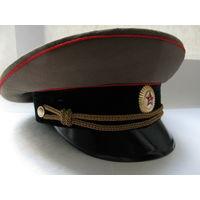 Фуражка офицерская ВС СССР. (55 размер, 1983 г.)