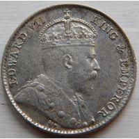 10. Стрейт Сетлемент 5 центов 1910 год, серебро