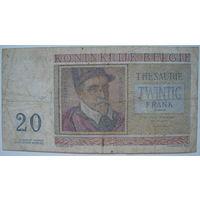 Бельгия 20 франков 1956 г. (a.)