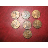 1 цент 1994, 1998 D, 2000 D, 2003, 2007, 2008, 2008 D США (о)