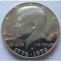 США пол-доллара 1976 200 лет независимости США отметка монетного двора S - Сан-Франциско - пруф, пореже!