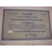 Акция Облигация Германия Третий рейх 170 рейхсмарок 1930 2