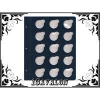 Лист Синий, для монет в капсулах D= 39мм, Коллекционер КоллекционерЪ в альбом для капсул