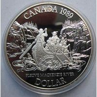 Канада, доллар, 1989, серебро, пруф