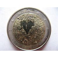 Финляндия 2 евро 2008г. 60 лет Всеобщей Декларации Прав Человека. (юбилейная) UNC!