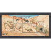 Намибия Фауна пустыни 2000 год чистый блок