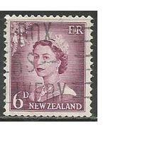 Новая Зеландия. Королева Елизавета II. 1955г. Mi#359.