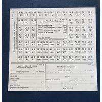 Продуктовая карточка СССР выпуск госзнак бумага с водяными знаками 198-год Е-10 6 категория дети, на особые случаи войны