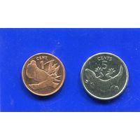 Кирибати 2 монеты (1+5 центов) UNC