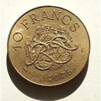 Монако 10 франков, 1978 5-5-5
