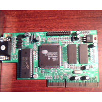 Видеокарта AGP на чипе Cirrus Logic CL-GD5465 Laguna3D (AGP-2x, 4Мбайта) для ретро-компьютеров.
