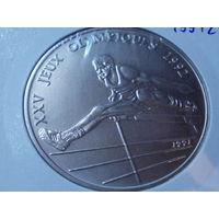 Конго 100 франков 1991 г.Олимпийские игры в Барселоне 1992.