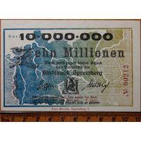 10 миллионов марок 1923г. Шпремберг (UNC)