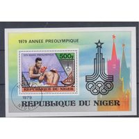 [633] Нигер 1979. Спорт.Бокс. Гашеный блок.