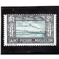 Сен-Пьер и Микелон.Ми-134. Утёс и маяк. 1932.