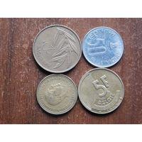 Четыре монеты  по  1рубля ....63