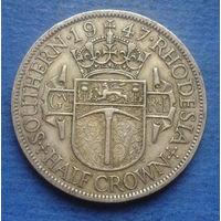 Южная Родезия Британская колония 1/2 кроны 1947