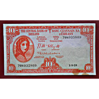 Ирландия,  10 шиллингов, 1959 г.