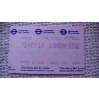 Лондон проездной билет 4::90 фунтов.  распродажа