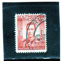 Южная Родезия.Ми-43.Король Георг VI (1895-1952).1937.