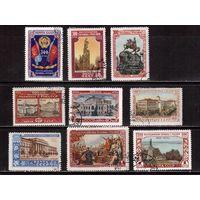 СССР-1954, (Заг.1669-1677)   гаш., 300-лет Воссоединение Украины с Россией