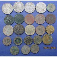 Кучка различных немецких пфенингов  1875-1943г (23 штуки) -одним лотом.