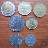 Италия. Набор монет.