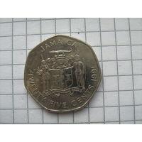Ямайка 25 центов 1991г.