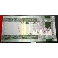 Южный Судан 1 фунт 2011, новая!