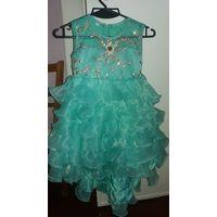Суперское нарядное  платье. 92-110 рост.