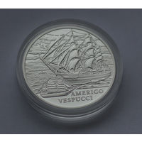 Америго Веспуччи (Amerigo Vespucci), 20 рублей, Серебро Ag, 2010 год, с 1 рубля без МЦ