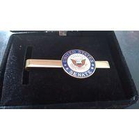 Зажим для галстука сенатора США в футляре. Оригинал!!!